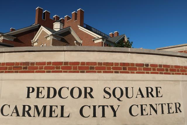 Pedcor Square Carmel City Center Sign